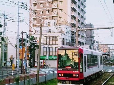 猛暑日の黄昏と都電【鉄道】