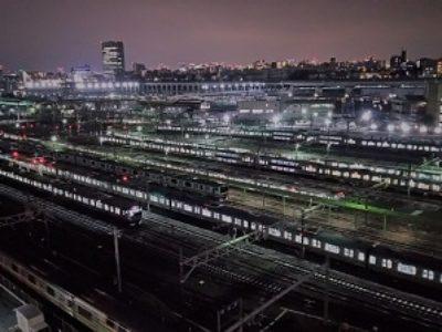 夜景が美しい車両基地(尾久車両センター)【鉄道】